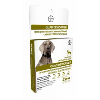 Bayer Quad Dewormer 2 ct. Large Dogs