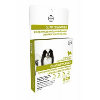 Bayer Quad Dewormer 4 ct. Small Dogs (2-25 lbs.)