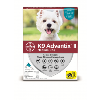 K9 Advantix II Teal  Dogs 11 - 20 pounds - 4 pack