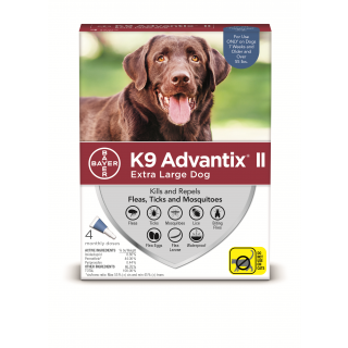 K9 Advantix II Blue   Dogs over 55 pounds - 4 pack