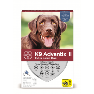 K9 Advantix II Blue  Dogs over 55 pounds - 6 pack