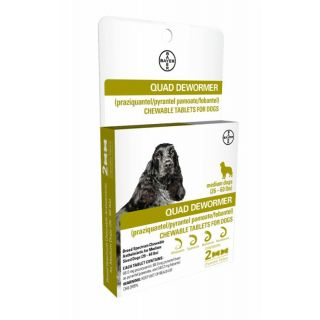 Bayer Quad Dewormer 2 ct. Medium Dogs (26-60 lbs.)