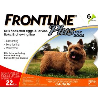 Frontline Plus for Dogs - up to 22 pounds - 6 pack